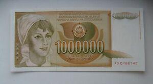 YUGOSLAVIA JUGOSLAWIEN 1000000 1 MILLION DINARA1989 UNC P99