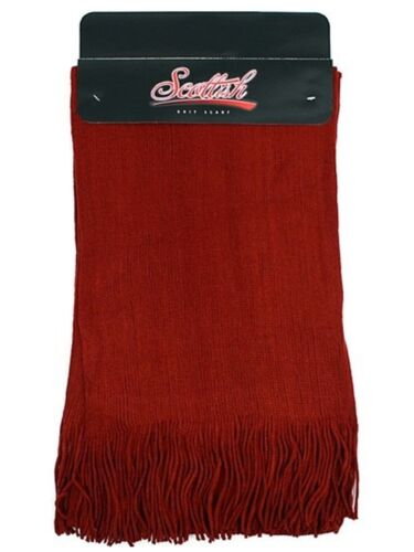 New Worm Winter Solid Color Acrylic Unisex Scarf with Tassels