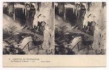 carte postale stéreo , grottes de bétharram , la chaire et le bassin