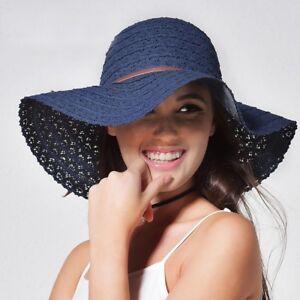 98dd418e56bef Women Summer Hats Beach Sun Hat Foldable Wide Brim Straw Hat Stylish ...
