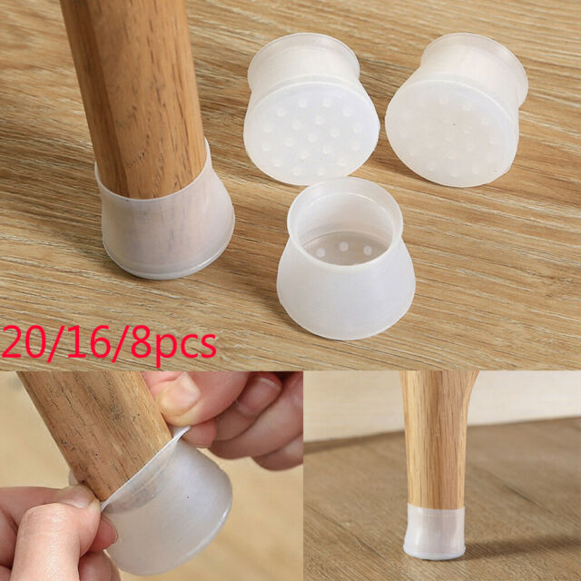 20x Anti-slip Silicone Furniture Table Chair Feet Pads Wood Floor Protector