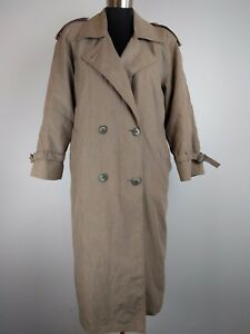 removibile Thinsulate Fodera Coat Women Beige Trench London 4 Made Petite Fog Usa p8Rq11zw