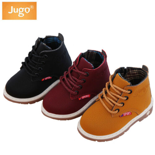 Fahsion Unisex Children Spring Martin Boots Shoes Anti-slip Causal Kids Sneakers