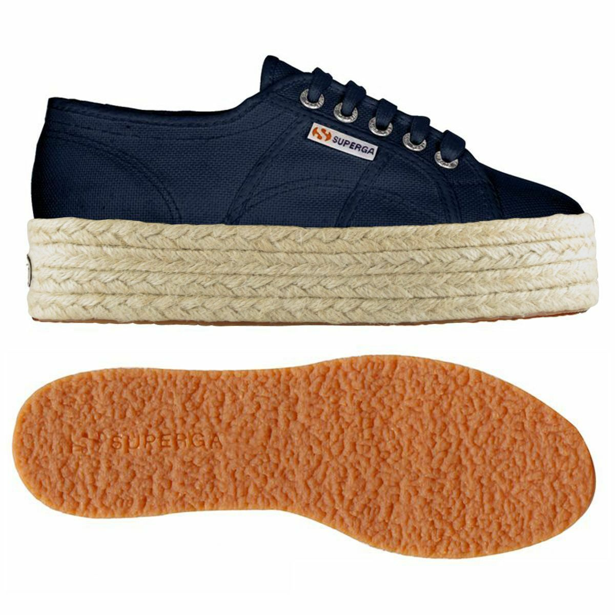 SUPERGA shoes women CON ZEPPA e CORDA blue 2790 cotropew 933 navy  S0099Z0