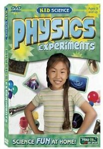 Kid-Science-PHYSICS-EXPERIMENTS-DVD-NEW-Magnetism-Electricity-Friction-amp-More