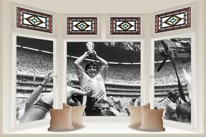 Huge Collage View Maradona Argentina Wall Stickers Decal Wallpaper 379