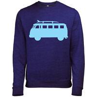 Vw Campervan Mens Printed British Summer Surf Sweatshirt Jumper