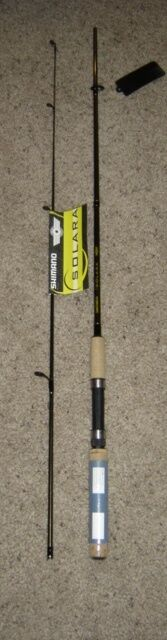 2 NEW SHIMANO SOLARA SPINNING FISHING RODS 6' MED SLS60M2