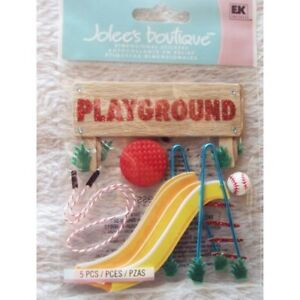 Playgound Slide Jump Rope Baseball Four Square Red Ball Jolee's 3D Sticker