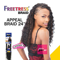 Appeal Braid 24 - Freetress Braid Crochet Synthetic Hair Curling Iron Safe