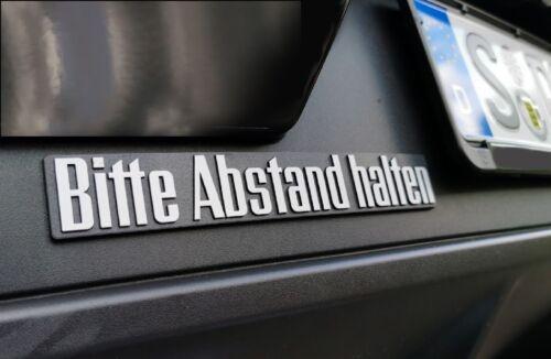 14403 Auto 3d Autocollants Relief Bouclier Emblème veuillez distance tenir 21 cm HR Art