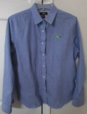 Land Rover Ladies Long Sleeve Button Front Shirt Blue Check Pattern Large