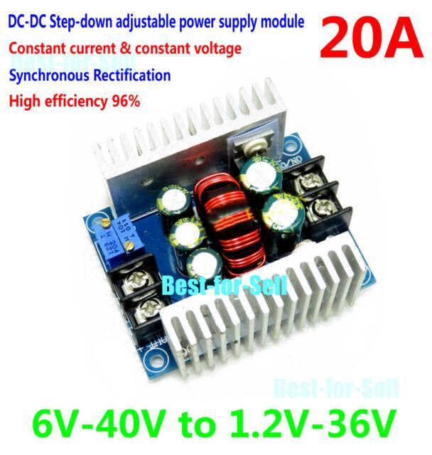 5A DC 3.3V 5V 9V 12V 24V Buck LED Driver Constant Current//Voltage Charger Module
