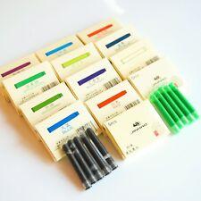 JINHAO INTERNATIONAL STANDARD FOUNTAIN PEN INK CARTRIDGES 15 COLOURS BOX of 5/10