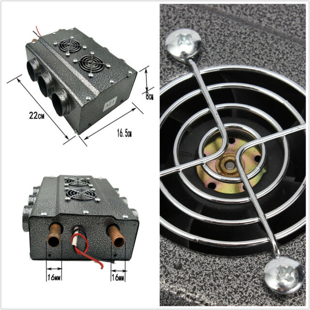 Compact Heater Heat Fan Under Dash Copper Portable Double Side 6 Ports Universal