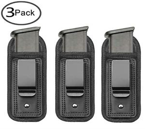 3 Magazine Holster Holders Single Double Stack For 9mm Glock Pistol Duty Belt US