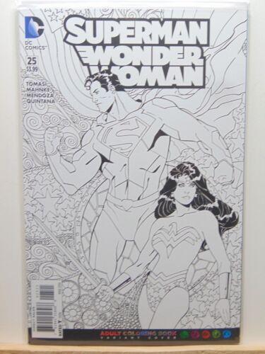 Universe Comics  CB4716 Superman Wonder Woman #25 Variant Coloring Book D.C