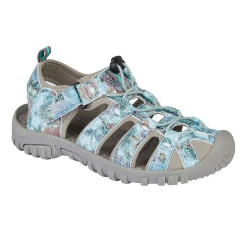 PDQ Womens//Ladies Snake Print Sports Sandals DF1911