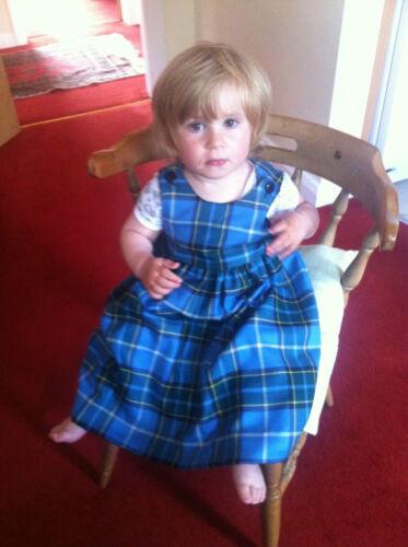 Girls Manx Tartan Pinafore Isle of Man Dress