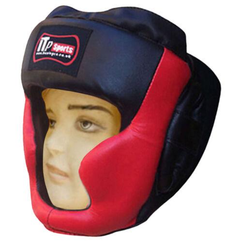 Children Leather Junior Boxing Head Guard Gear Martial Arts Kids