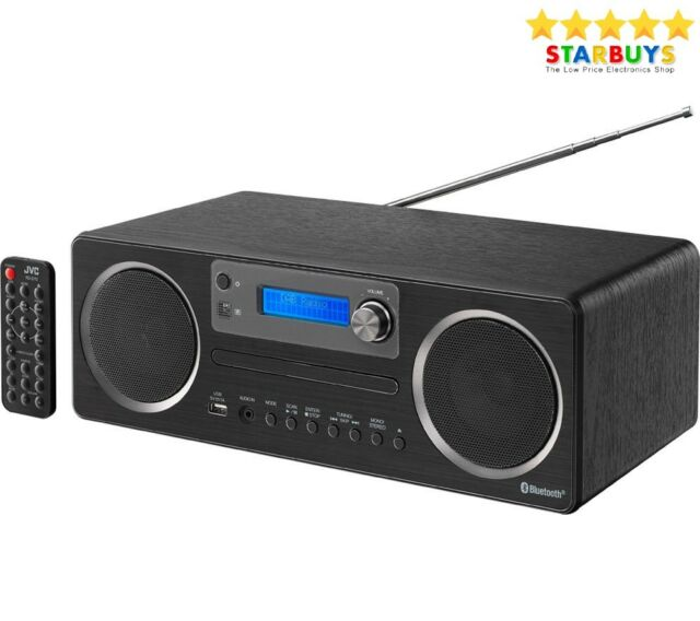 JVC RD-D70 DAB Hi-Fi With Bluetooth CD Player USB Micro System + FM Radio AUX **