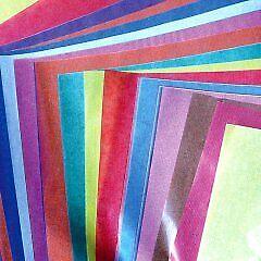 Transparentpapier bunt 25 Bögen 42 g//m²  transparent Papier Fenster