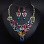 Fashion-Bib-Choker-Crystal-Pendant-Statement-Necklace-Earrings-Party-Jewelry-Set thumbnail 35