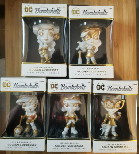 2019 CRYPTOZOIC DC BOMBSHELLS SERIES 3 *LIL BOMBSHELL* GOLDEN GODDESSES SET OF 5