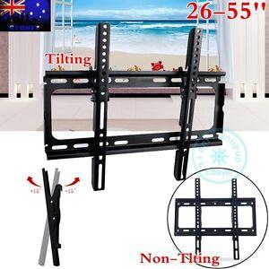 SLIM-TILT-TV-WALL-BRACKET-MOUNT-PLASMA-LED-LCD-26-32-37-42-46-50-52-55-034-VESA-400