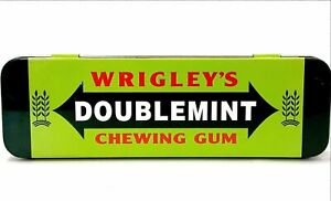 Wrigley's Doublemint Chewing Gum Collectible Tin Small Rectangular Metal Box