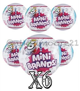 5-SURPRISE-MINI-BRANDS-MADE-BY-ZURU-X6-BALLS-New-Authentic