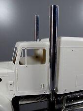 Aluminum L&R Exhaust Pipe Stack +Adapter Tamiya 1/14 RC Semi King Grand Hauler