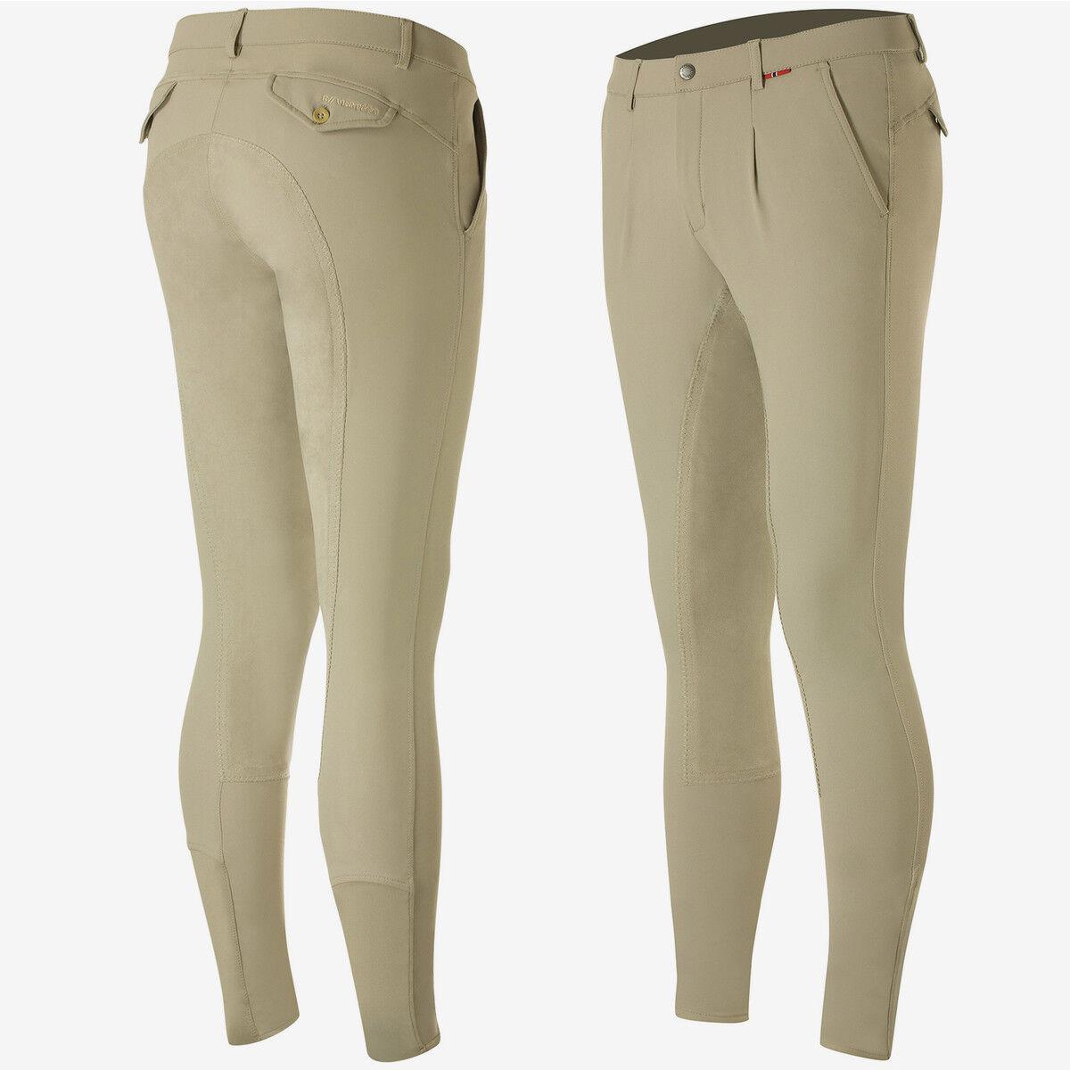 B verdeigo Lijadora Para Hombre Pantalones De  Montar De Asiento Completo Equitación con cintura mediana altura  compras online de deportes