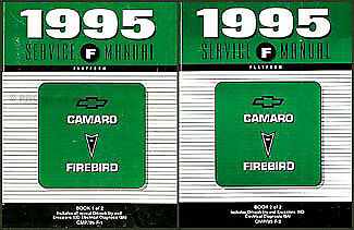 1995 Camaro Firebird Shop Manual Set Z28 Formula Trans Am Repair Service Pontiac