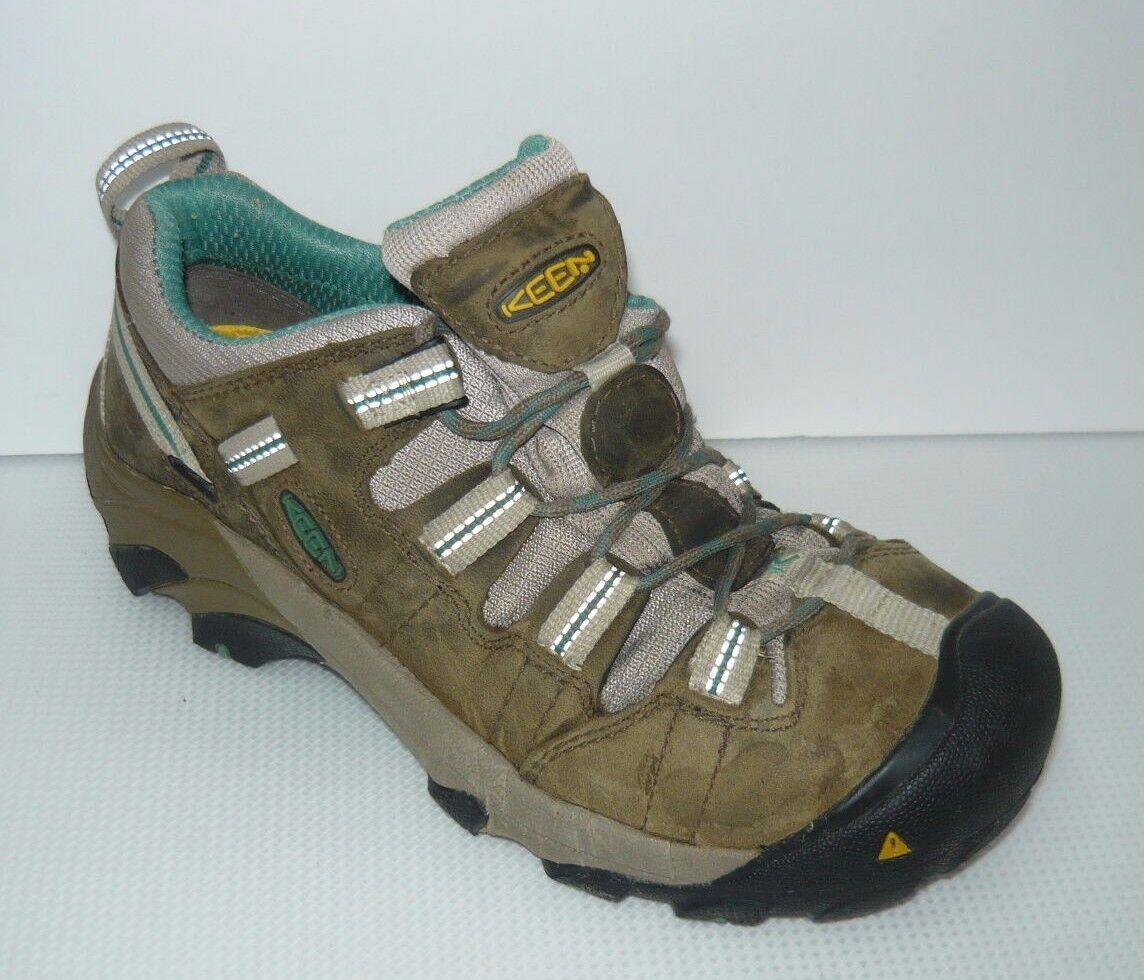 sports shoes 6f2b4 9297f KEEN KEEN KEEN Utility Steel-toe Women s F2413 Brown  Sea Blue Shoes 7  748ca3