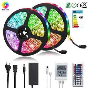 RGB-LED-Stripe-5050-SMD-Leiste-Streifen-Band-Licht-Leuchte-Lichterkette-1-5-10m