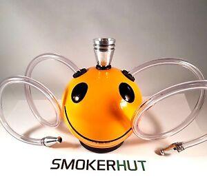 Double-Hose-Hookah-Pipe-Ceramic-Smiley-Hookah-2-Person-Smoking-Pipe-Gauzes