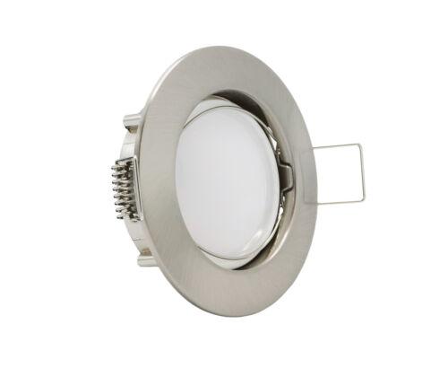 6336.110 Einbauleuchte IP44 Eisen Gebürstet inkl LED Modul 5,5W 3000K Ultra F