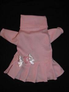 Pink-Turtleneck-Knit-Dress-Dog-Puppy-Teacup-Pet-Clothes-XXXS-Large