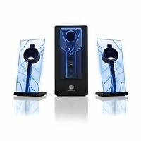 Gogroove Basspulse Computer Speaker System With Blue Led Glow L... Free Shipping