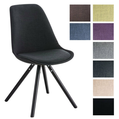 Besucherstuhl PEGLEG schwarz Stoff mit Lehne Retro Esszimmerstuhl Loft Chair