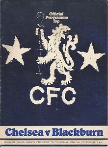 Chelsea-v-Blackburn-Rovers-Div-2-2-4-1977-Football-Programme