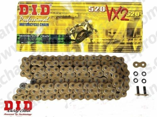 Suzuki RGV250 K,L Wolf VJ21A 1989-1990 DID GOLD VX2 Heavy Duty X-Ring Chain