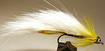 ICE FLIES. Streamer fly, Black Ghost Zonker.Size 2, 4, 6, 8 and 10 (3-pack)