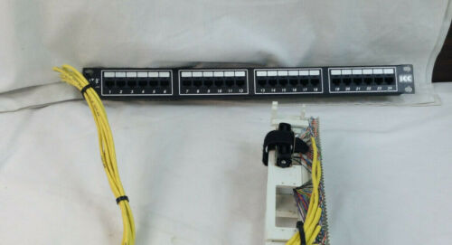2 Feet ICC 24-port Cat 5e Network Patch Panel w// Siemon S66M1-50 Pre-Wired