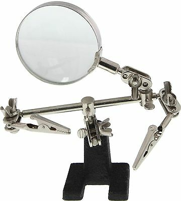 New Dual Helping Hands with Magnifying Glass # MZ101
