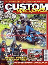 CUSTOM MACHINES 24 HARLEY DAVIDSON 883 Sportster HONDA VT 750 KAWASAKI VN 1500