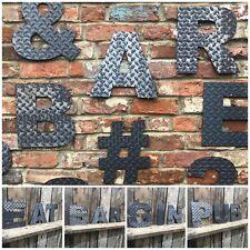 30.5cm Industriale Lettere Metallo Rustico Numeri Simboli Insegna Negozio Rusty