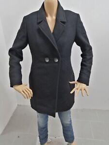 Cappotto-NERO-GIARDINI-Donna-Taglia-Size-42-Jacket-Woman-Veste-Femme-P-7596