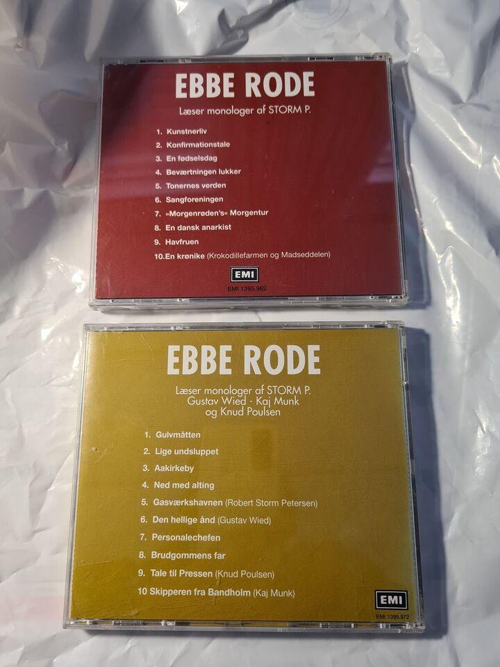 Ebbe Rode: 2CD . Læser monologer af storm P m.Fl. vol.1+2,